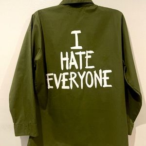 "Jac Vanek ""I Hate Everyone"" Vintage Army Jacket"